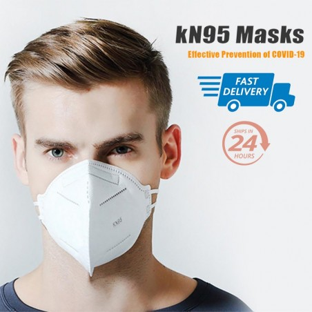 Anti Infection KN95 Masks N95 5 Layers Mask Particulate Respirator PM2.5 Protective Safety Like KF94 FFP2 Masks White
