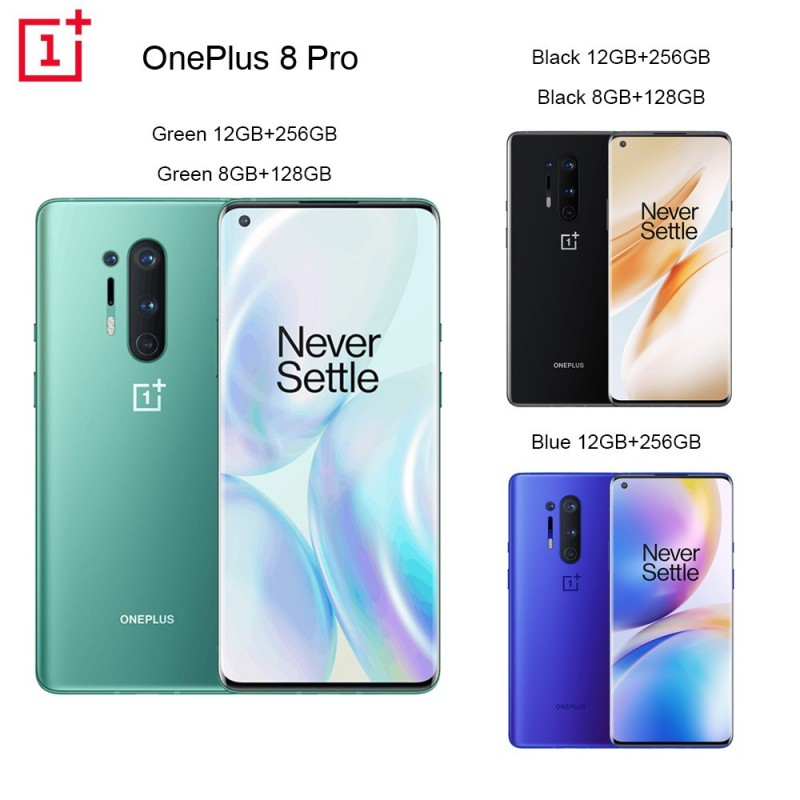 Oneplus 8 Pro 5G Smartphone Snapdragon 865 8G 128G 6.87inches 120Hz Fluid Display 48MP Quad 513PPI 30W Wireless Charging