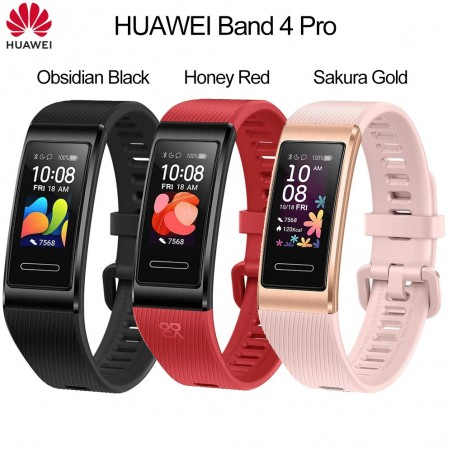 Huawei Band 4 Pro Smart Wristband 5ATM Waterproof Standalone GPS Health Monitor SpO2 Blood Oxygen Sports Bracelet