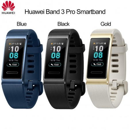 Huawei Band 3 Pro Smartband GPS Metal Frame Amoled Full Color Display Touchscreen Swim Stroke Heart Rate Sensor Sleep