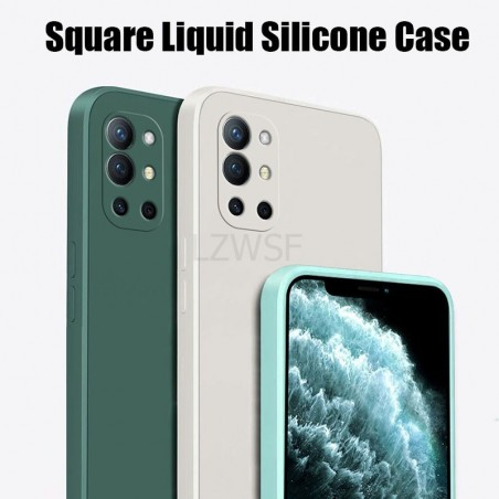 OnePlus 9R Case Square Liquid Silicone Matte Soft Camera Protection Cover For OnePlus 9 Pro One Plus 9R 9 Pro Phone Case