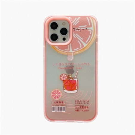 Cute Cartoon Fruit Grapefruit Soft Silicone Phone Case For iphone XR XS 11 Pro Max  7 8 plus 12 Holder Cover Luxury Gift Coque