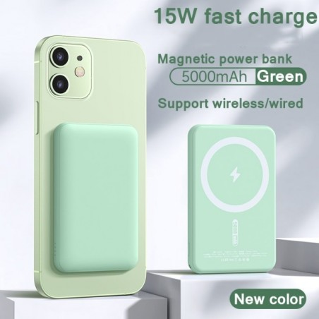 Magnetic Wireless Power Bank Fast Charging For iPhone 12 13 pro max Portable Mobile Charger External Battery 5000mAh PowerBank